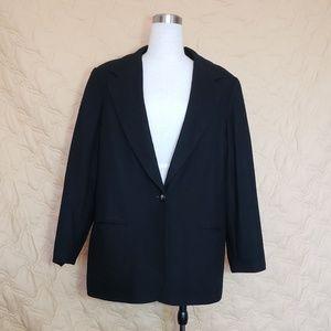 Requirements WOOL Black Blazer Dress Suit Jacket